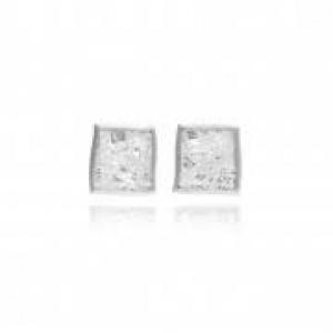 Zilveren Galloway manchetknopen 4-kant met geoxideerd fijnzilver 999/000 en onbehandeld confettimotief - 304393