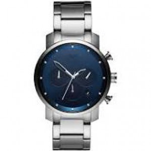 "MVMT ""  Chrono midnight blue  41 mm ""  kast en band staal en blauwe wijzerplaat - 211029"