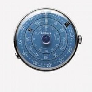 Klokers horloge met zwitsers uurwerk, serie Klok-01 / 44 mm , de wijzerplaat in nachtblauw - 212989