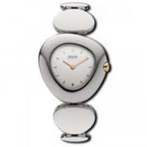 M&M horloge bicolor kast en stalen fantasieschakelband , refnr : 11925.362 - 206630