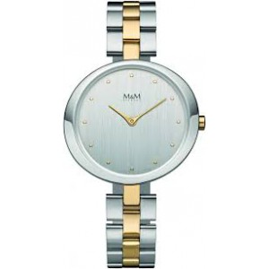 M&M horloge ,bicolor stalen band en kast met refnr : 11933.362 - 206627