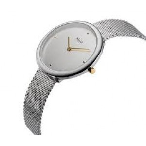 stalen bicolor M&M horloge met milanaise band M11944-162 - 208249