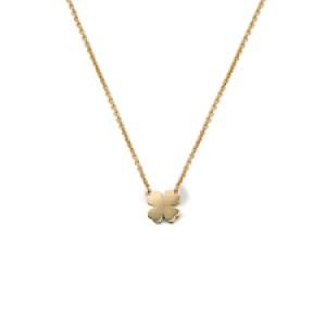 14 krt geelgouden Miss Spring collier inclusief een klavertje 4 MSC144GG - 212524