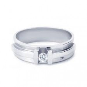14 krt witgouden R&C groeibriljant ring, model 64, voorzien van 0,03 crt briljant geslepen diamant Si/R - 35523