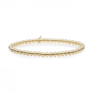 Sparkling Jewels armband; Gold plated Saturn 4 mm - 211390