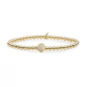 Sparkling Jewels armband; Gold plated Disc Galaxy 4 mm - 211392