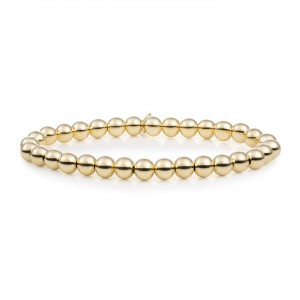 Sparkling Jewels armband; Gold plated Saturn 6mm - 211391