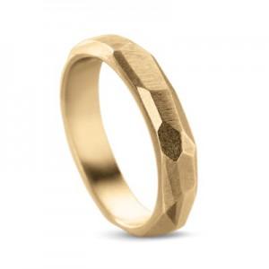 """14 krt geelgouden design Equiv ring model """" Statement """" gepolijst - 208316"""