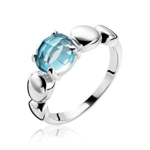 Zilveren Zinzi fantasie ring met turquoise zirkonia maat 54 - 204016