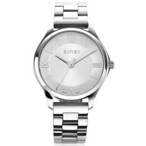 """Zinzi horloge """" Classy Mini 30 mm """" geheel staal, lichte wijzerplaat + secondewijzer - 211533"""