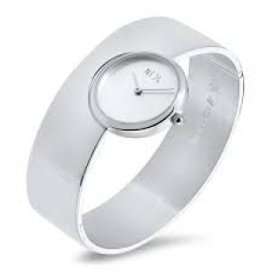 een NOL handgesmeed zilveren horloge , rechte brede band , AG04922 - 23312