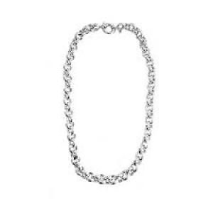 MONZARIO zilveren jasseron collier op 47 cm, model 91c - 207882