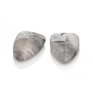 Sparkling Jewels edelsteen hanger voor oorsieraden; Edge; black rutilated quartz - 211542