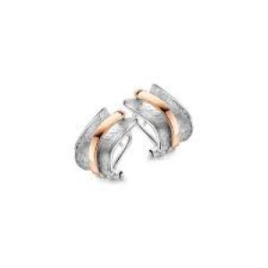 eNGi zilveren oorsieraden  met 14 krt rosé goud - 303675