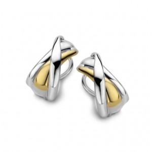 eNGi collections zilveren oorsieraden met 14 krt geelgoud - 210819