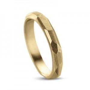 """14 krt geelgouden design Equiv ring model """" Elementary special edition """" verfraaid met 3 briljant geslepen diamanten - 208315"""