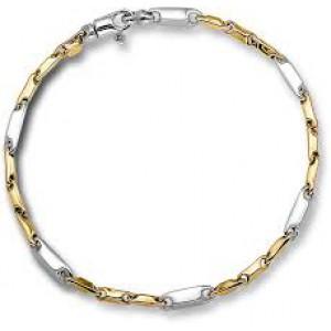 Monzario armband 14 karaats geel- en witgoud, model nr. 460a bic - 212975