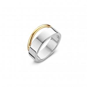 eNGi collections zilveren ring met 14 krt geelgoud - 207029
