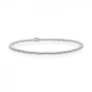 Sparkling Jewels armband;  zilver, 3 mm - 211418