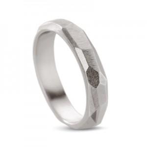 "zilveren design Equiv ring model "" Statement"" gepolijst - 208311"