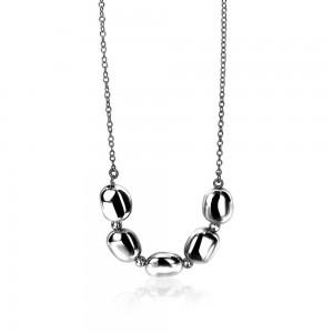 Zilveren Zinzi collier met vierkante vormen, 42-45 cm ZIC1275 - 205391