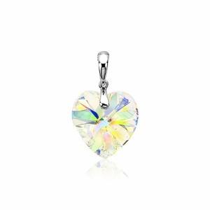 Zilveren Zinzi  hanger hart van swarovski kristal, ZIH903 - 205332