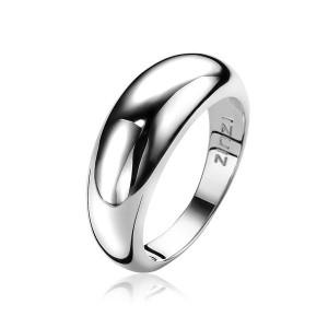 Zilveren Zinzi gladde bolle ring maat 56 - 205353