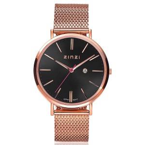 Zinzi horloge model ZIW404M, stalen rosé vergulde milanaise band en kast - 205724