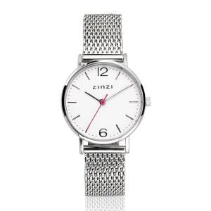 Zinzi lady horloge zilverkleurig met witte wijzerplaat - 207276